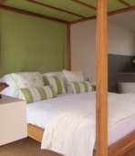 Inside one of our lodges: Bedroom